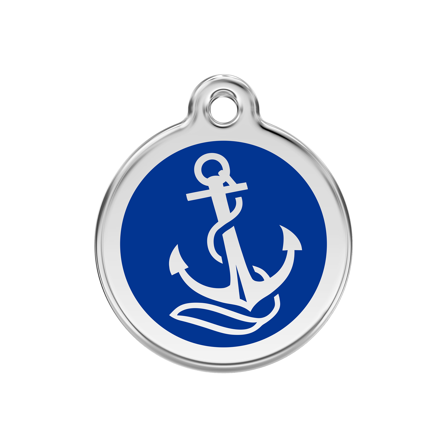 Anchor Medium Enamel & Stainless Steel Tag>