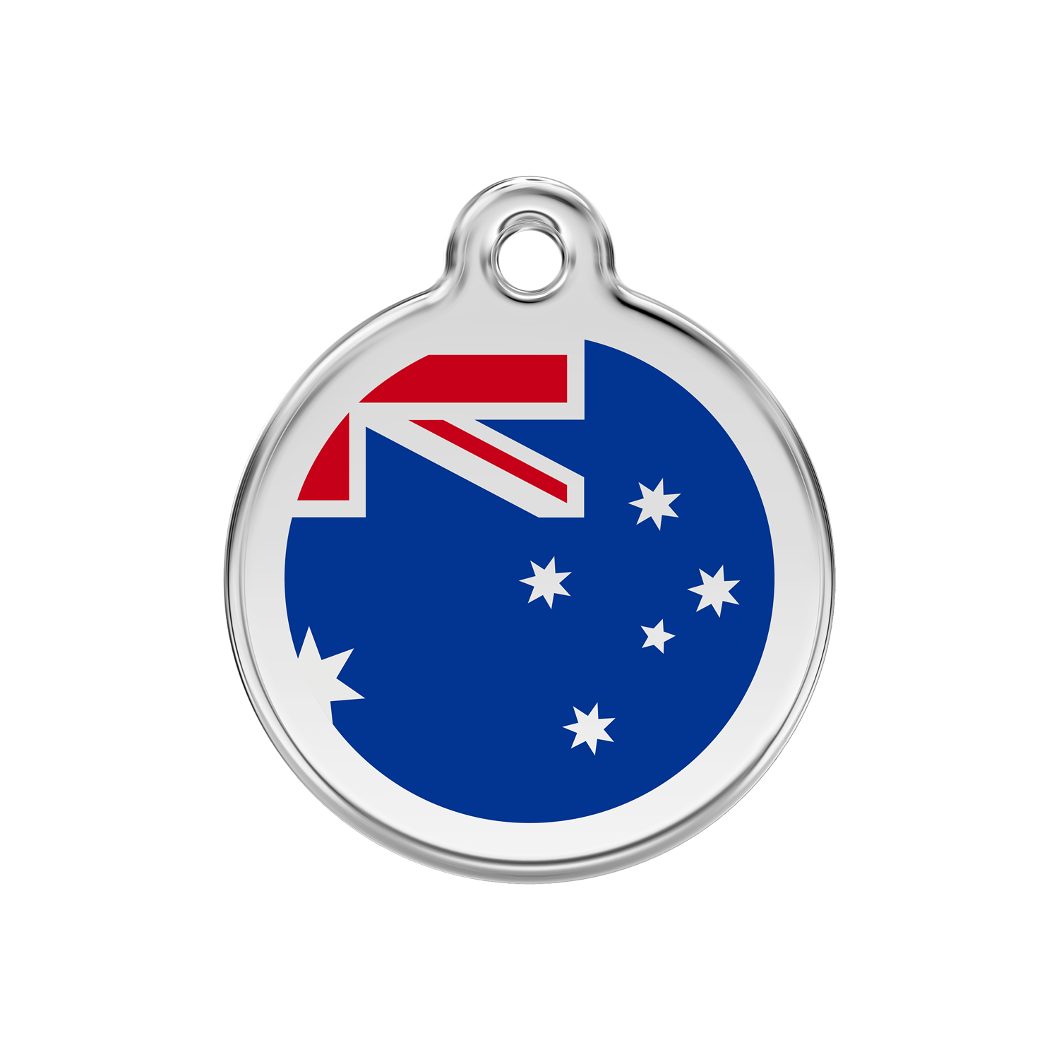 Australian Flag Medium Enamel & Stainless Steel Tag>