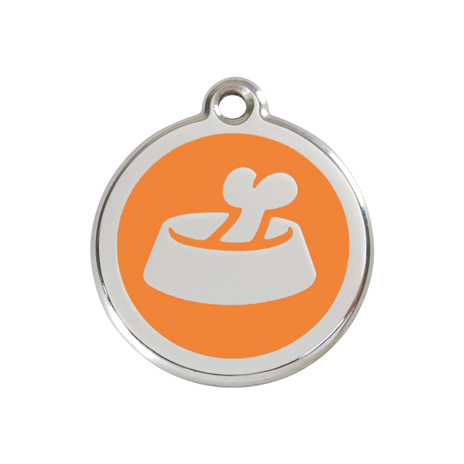Orange Bone In Bowl Medium Enamel & Stainless Steel Tag>