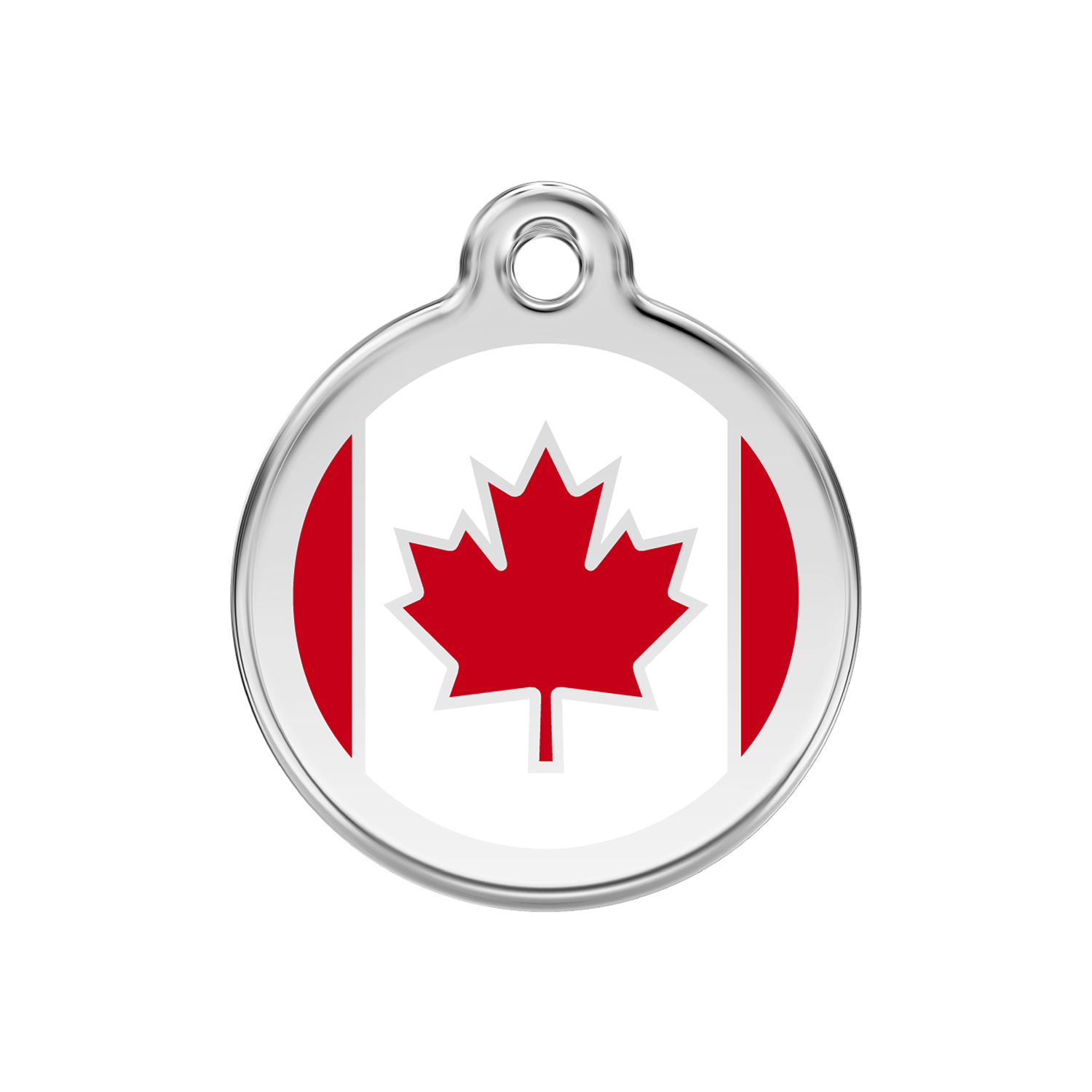 Canadian Flag Medium Enamel & Stainless Steel Tag>