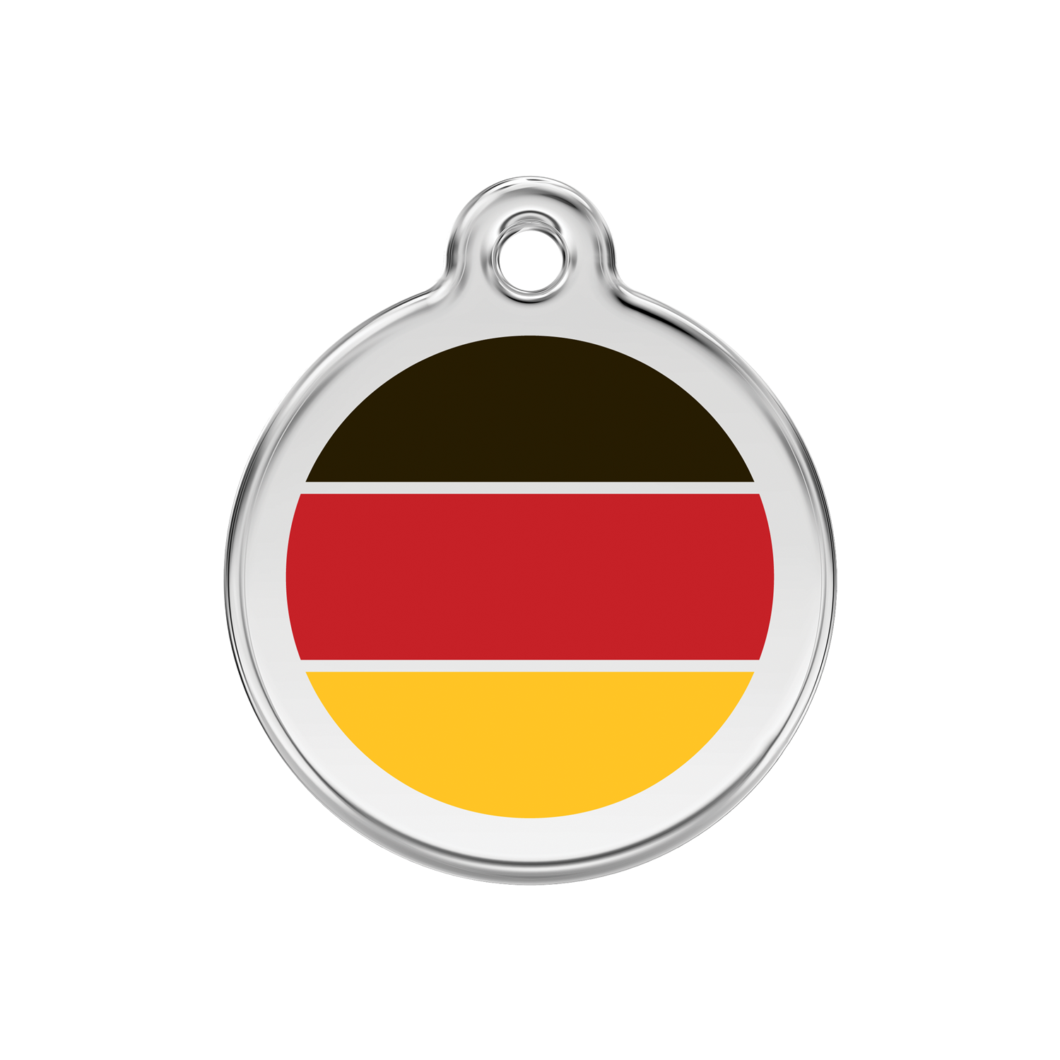 German Flag Medium Enamel & Stainless Steel Tag>