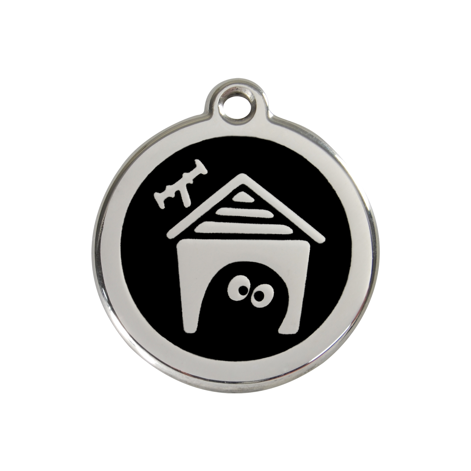 Black Dog House Medium Enamel & Stainless Steel Tag>