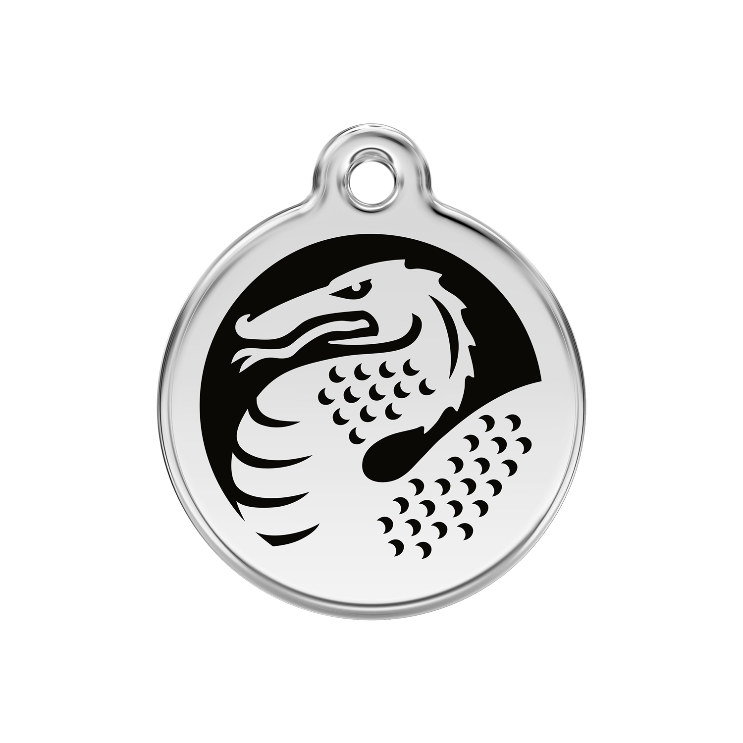 Black Dragon Medium Enamel & Stainless Steel Tag>