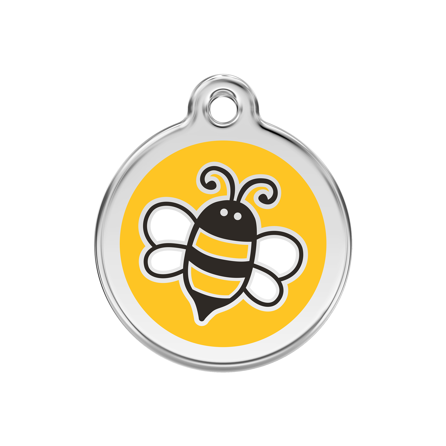 Yellow Bumble Bee Medium Enamel & Stainless Steel Tag>