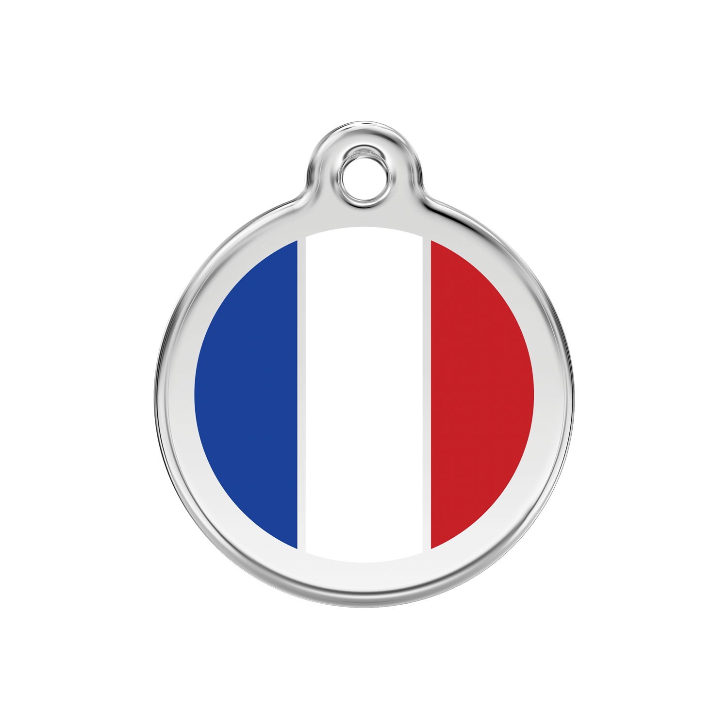 French Flag Medium Enamel & Stainless Steel Tag>