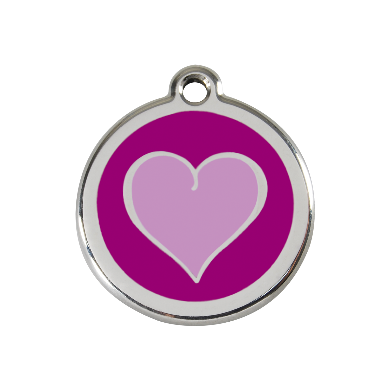 Purple Heart Medium Enamel & Stainless Steel Tag>