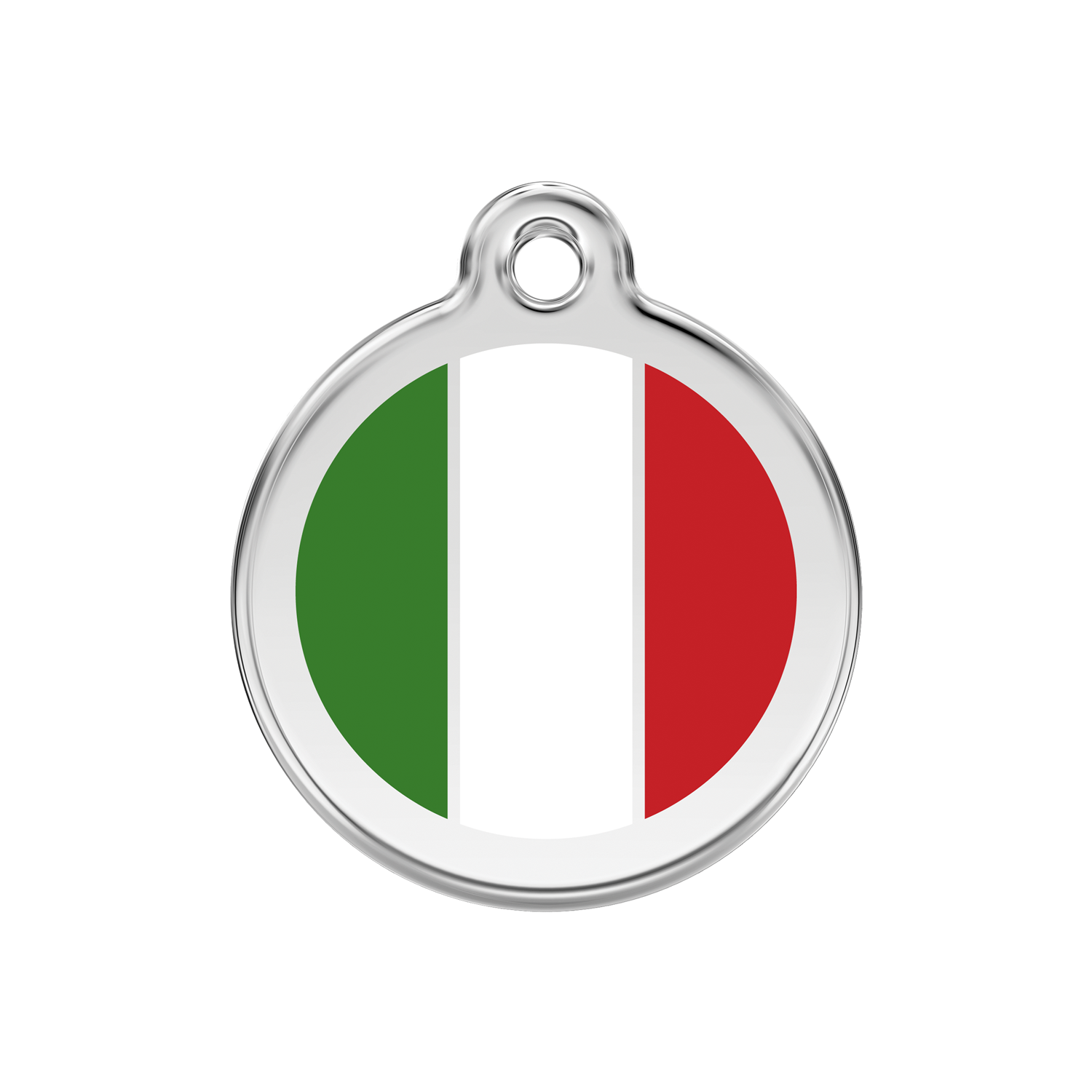 Italian Flag Medium Enamel & Stainless Steel Tag>