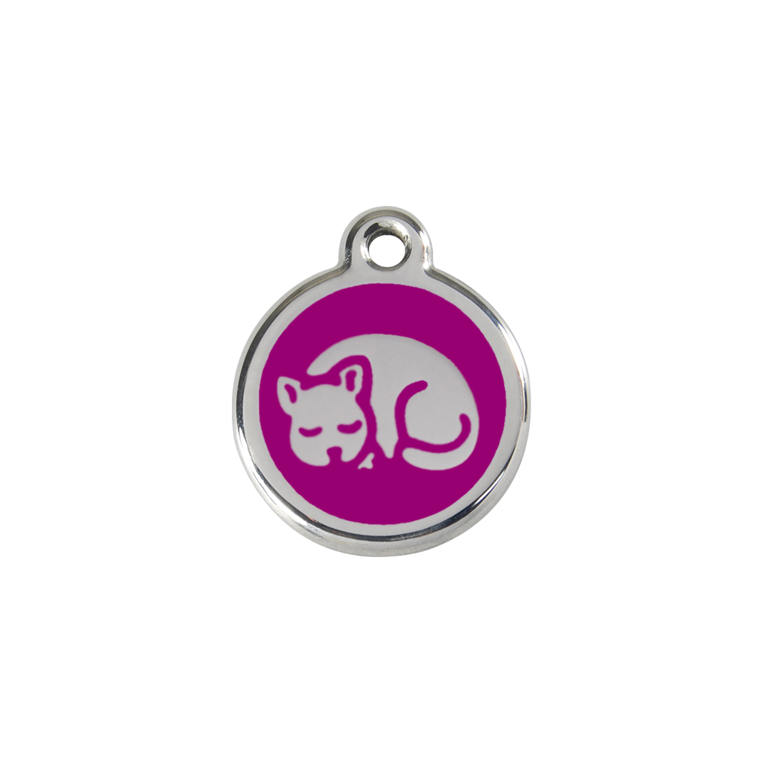 Purple Kitten Small Enamel & Stainless Steel Tag>