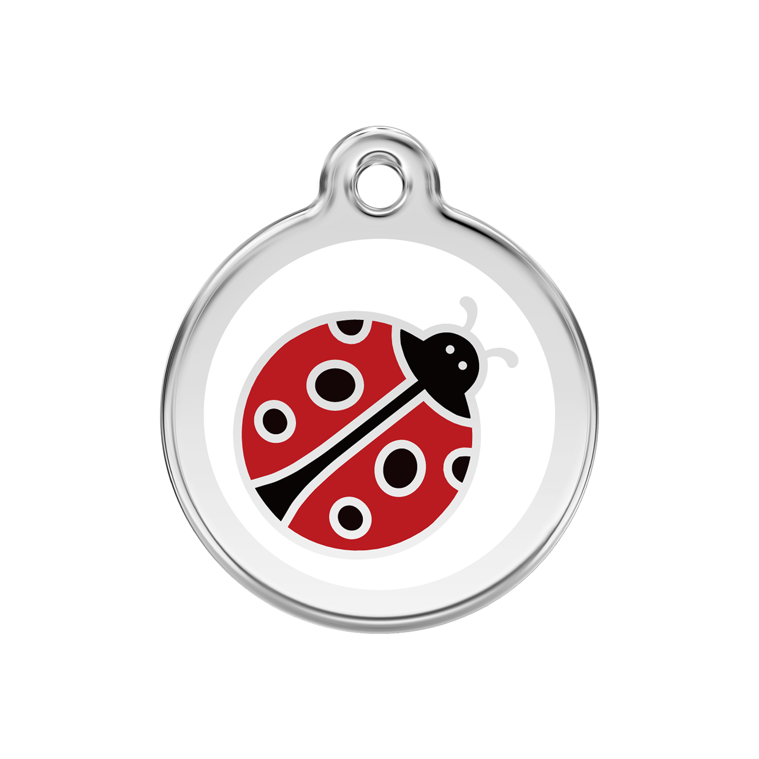 Ladybug Medium Enamel & Stainless Steel Tag>
