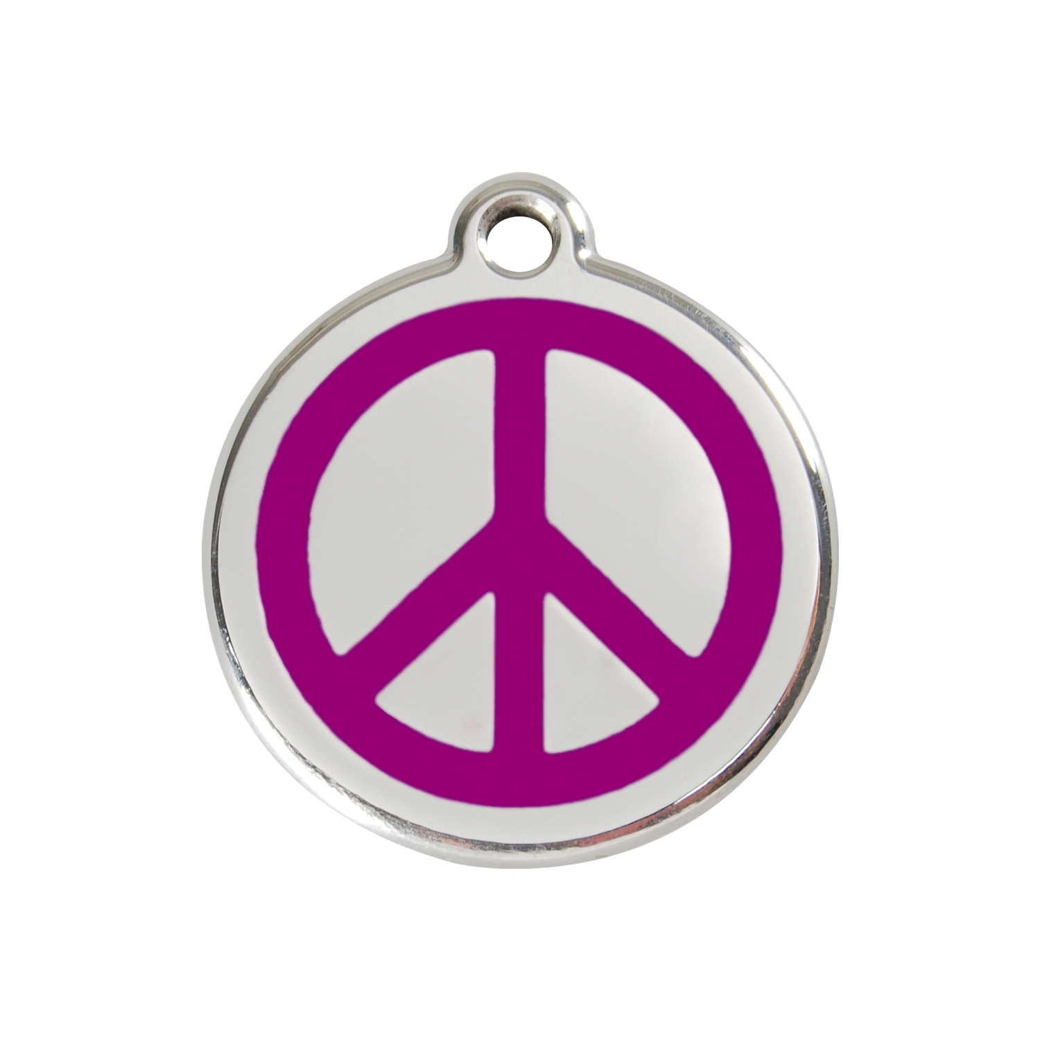 Purple Peace Medium Enamel & Stainless Steel Tag>