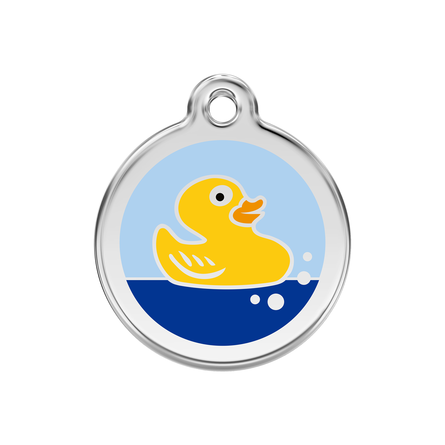 Rubber Duck Medium Enamel & Stainless Steel Tag>