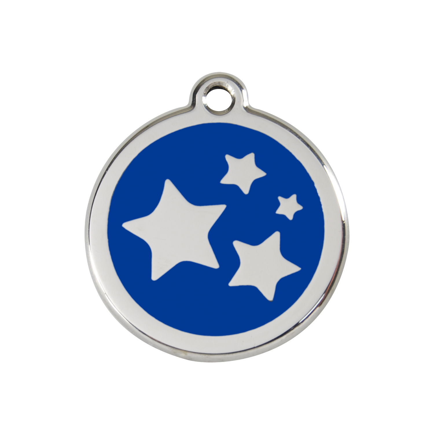 Dark Blue Stars Medium Enamel & Stainless Steel Tag>