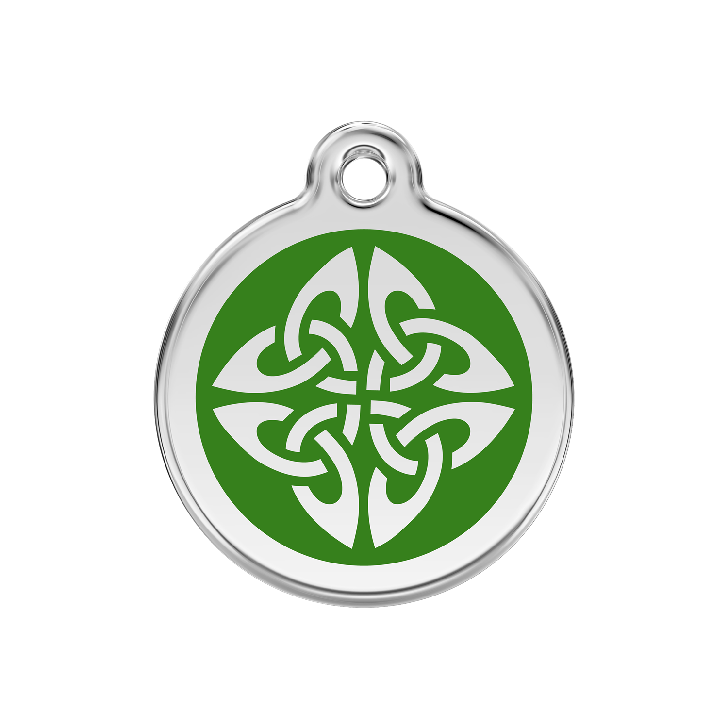 Green Tribal Arrows Medium Enamel & Stainless Steel Tag>
