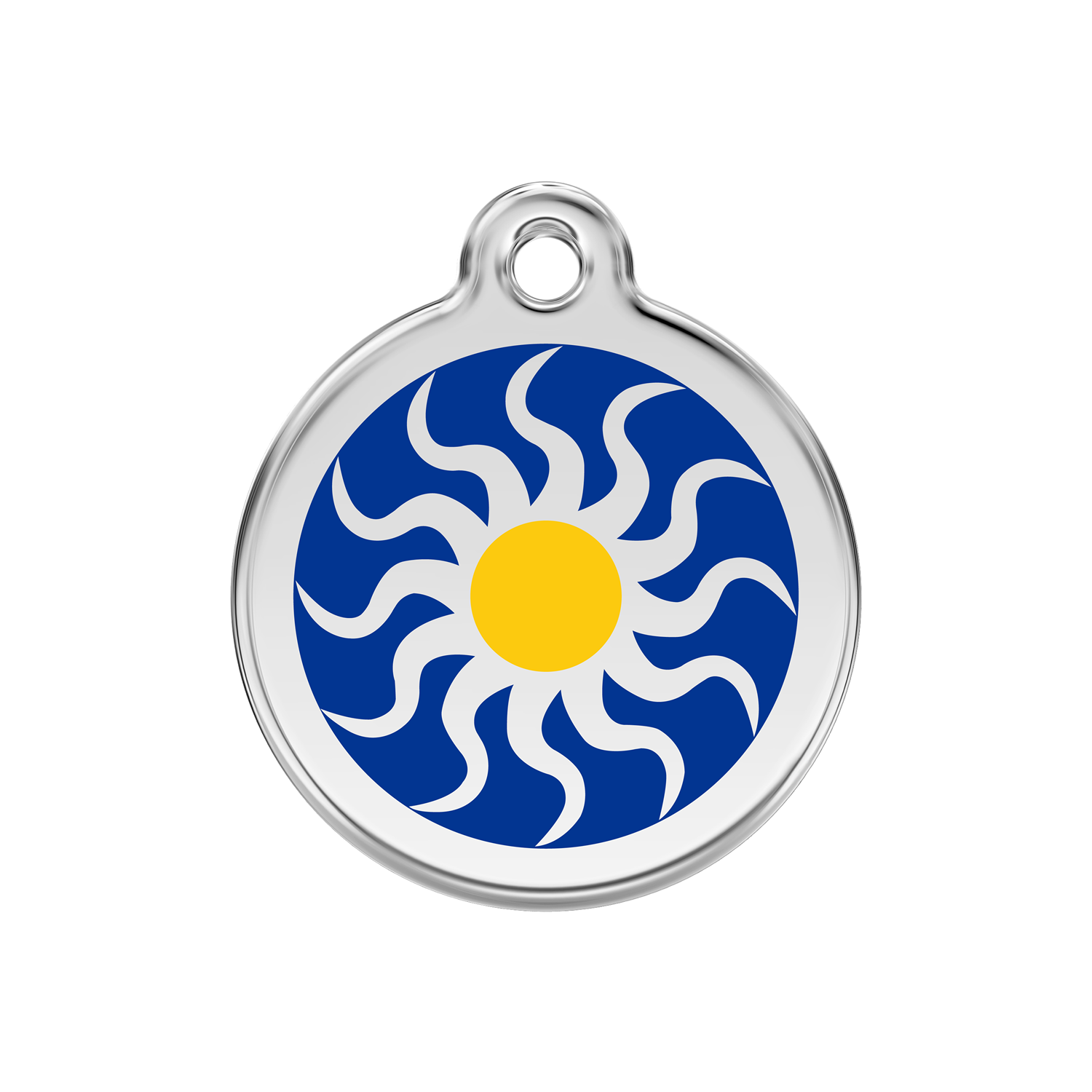 Tribal Sun Medium Enamel & Stainless Steel Tag>