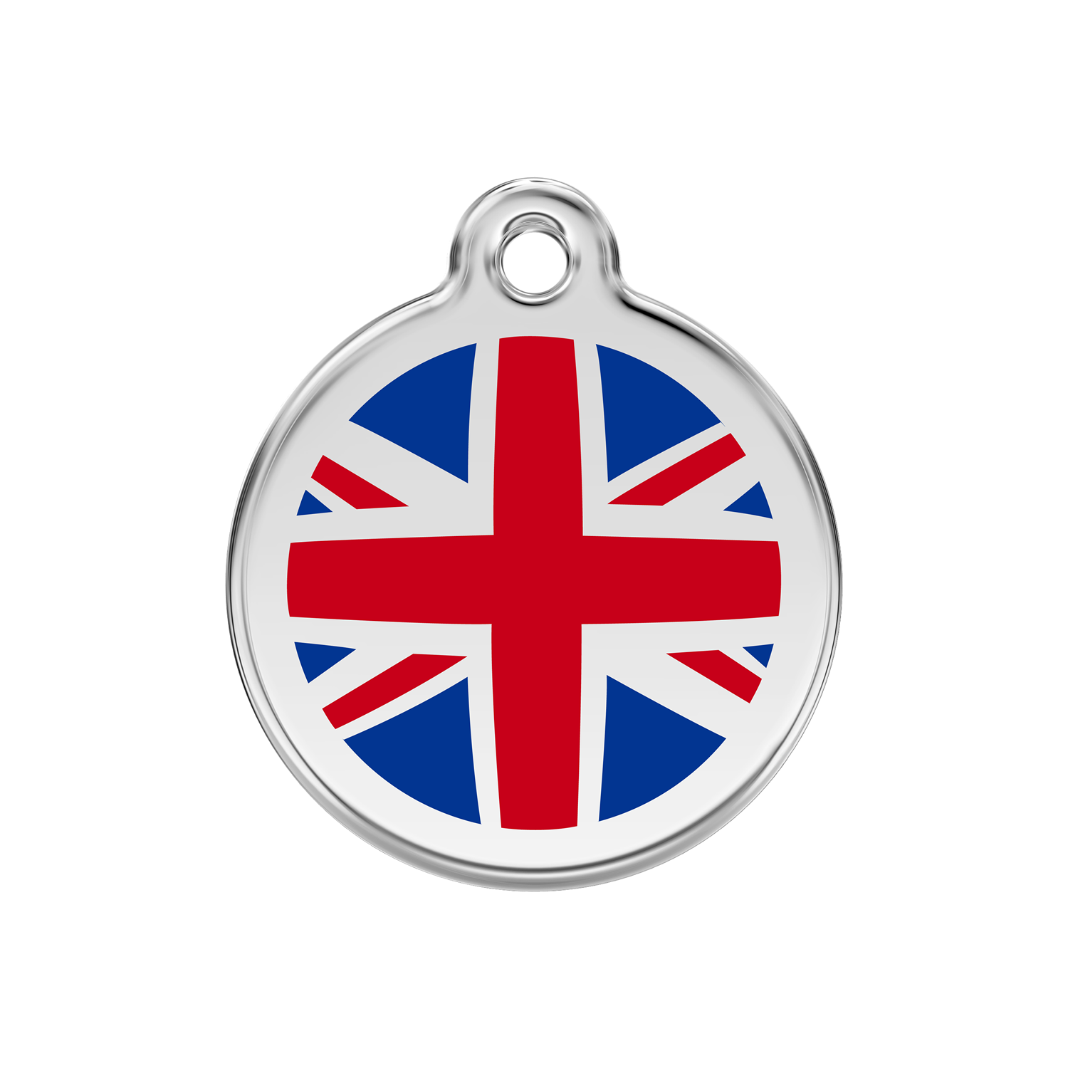 UK Flag Medium Enamel & Stainless Steel Tag>