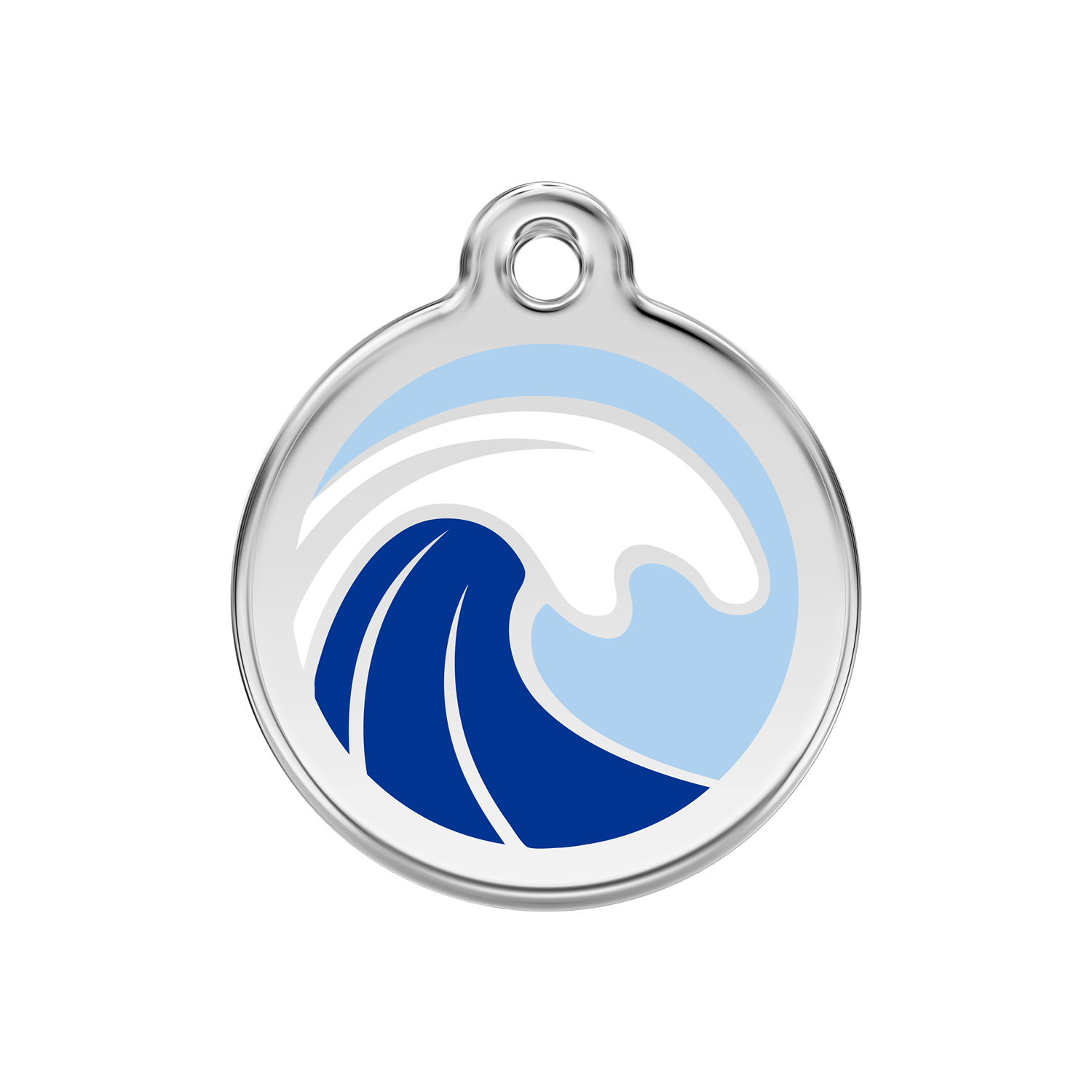 Wave Medium Enamel & Stainless Steel Tag>