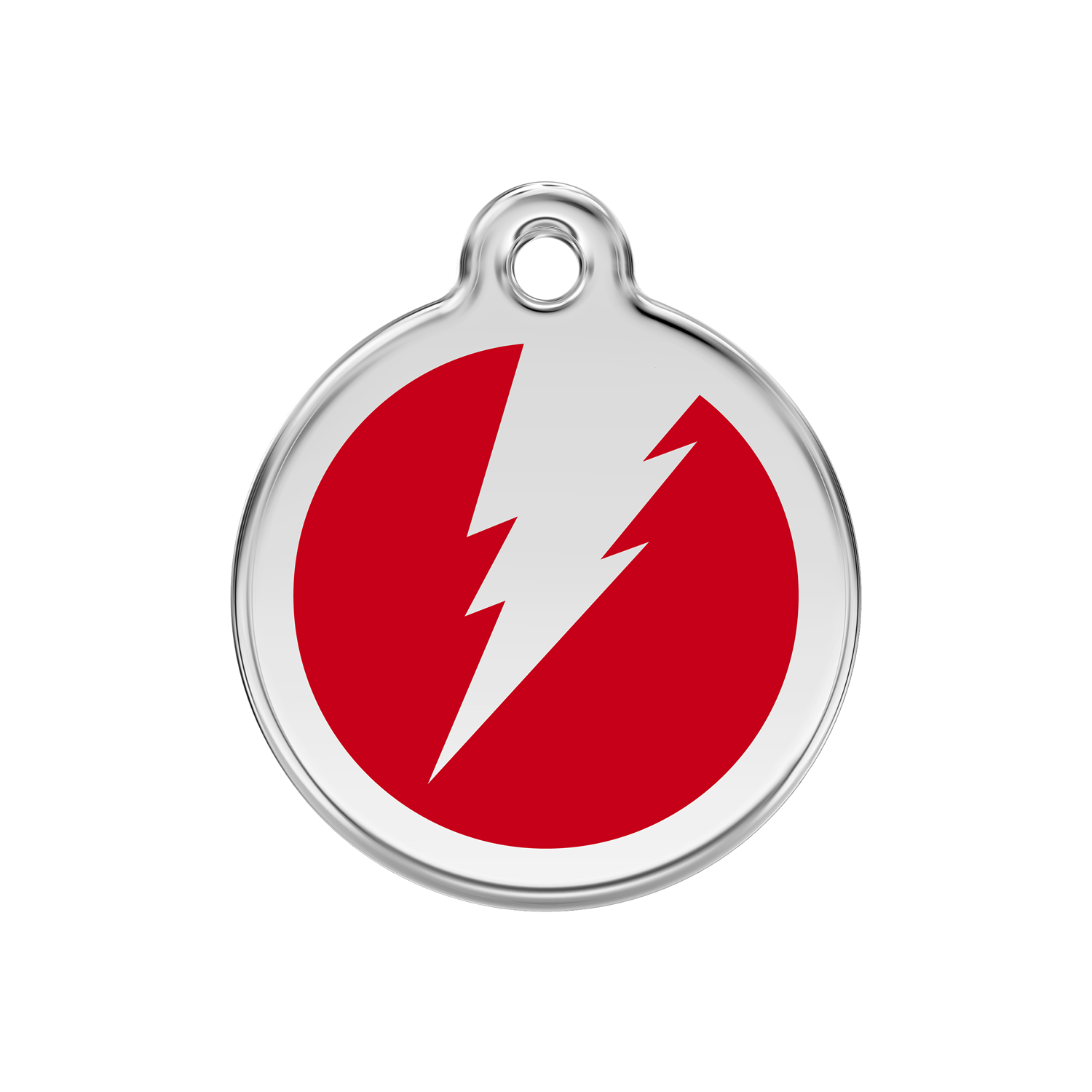Red Flash Medium Enamel & Stainless Steel Tag>