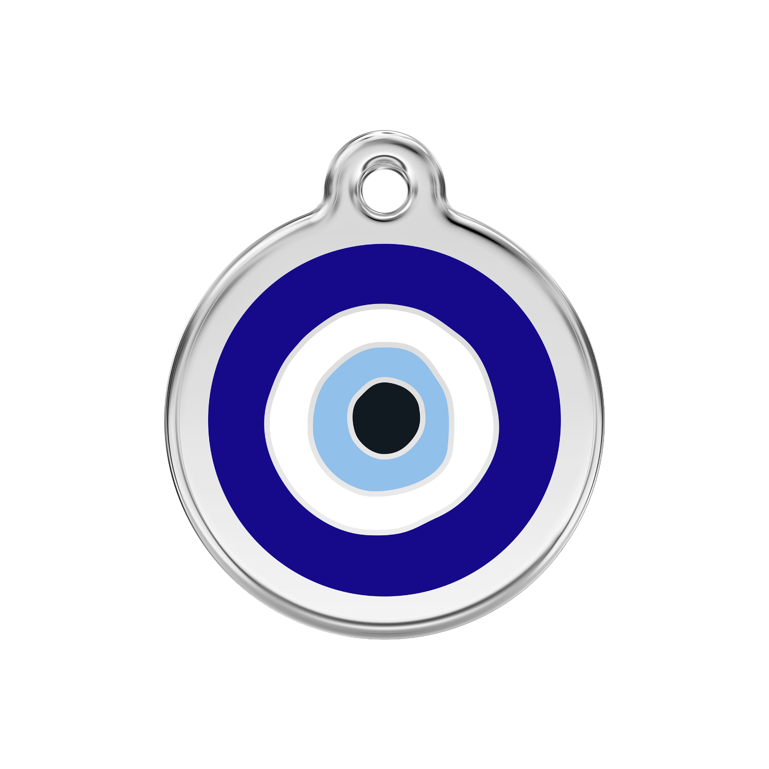 Evil Eye Enamel Medium & Stainless Steel Tag>
