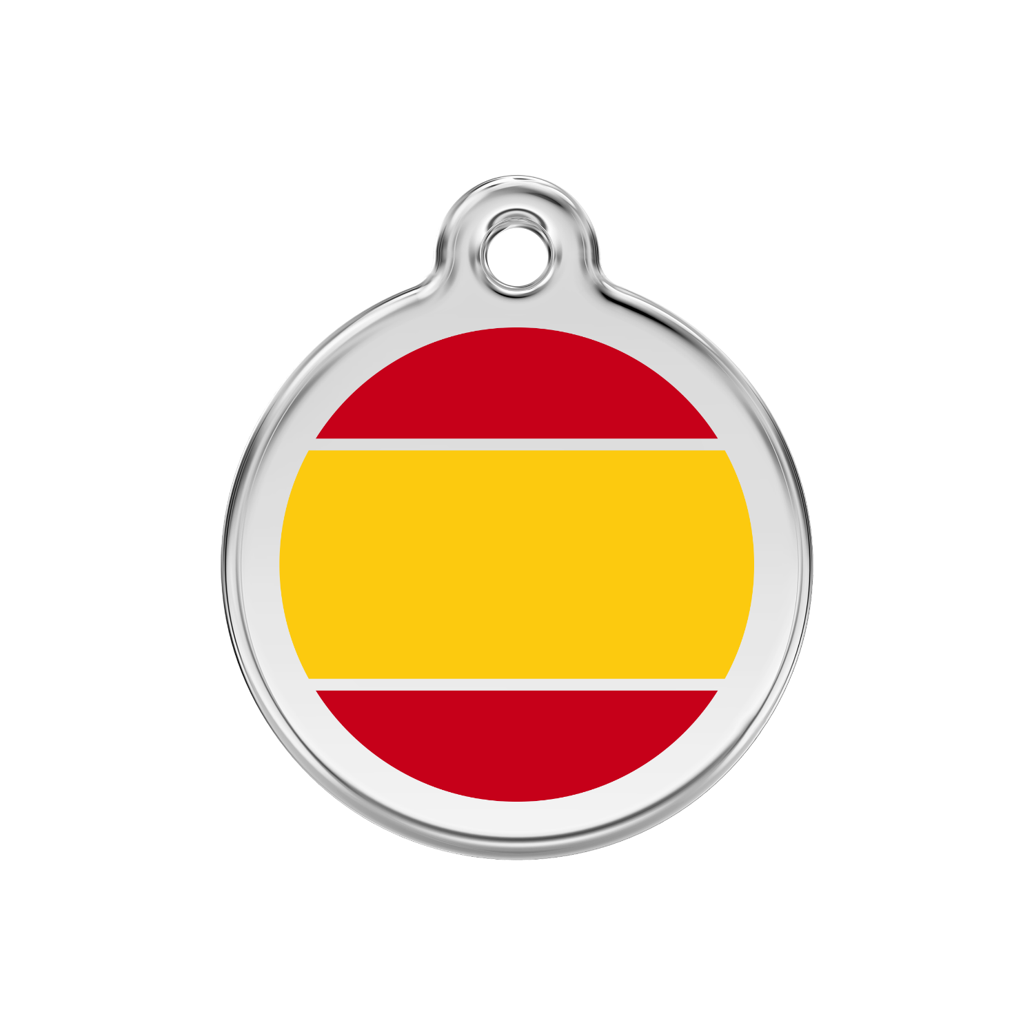 Spanish Flag Medium & Stainless Steel Tag>