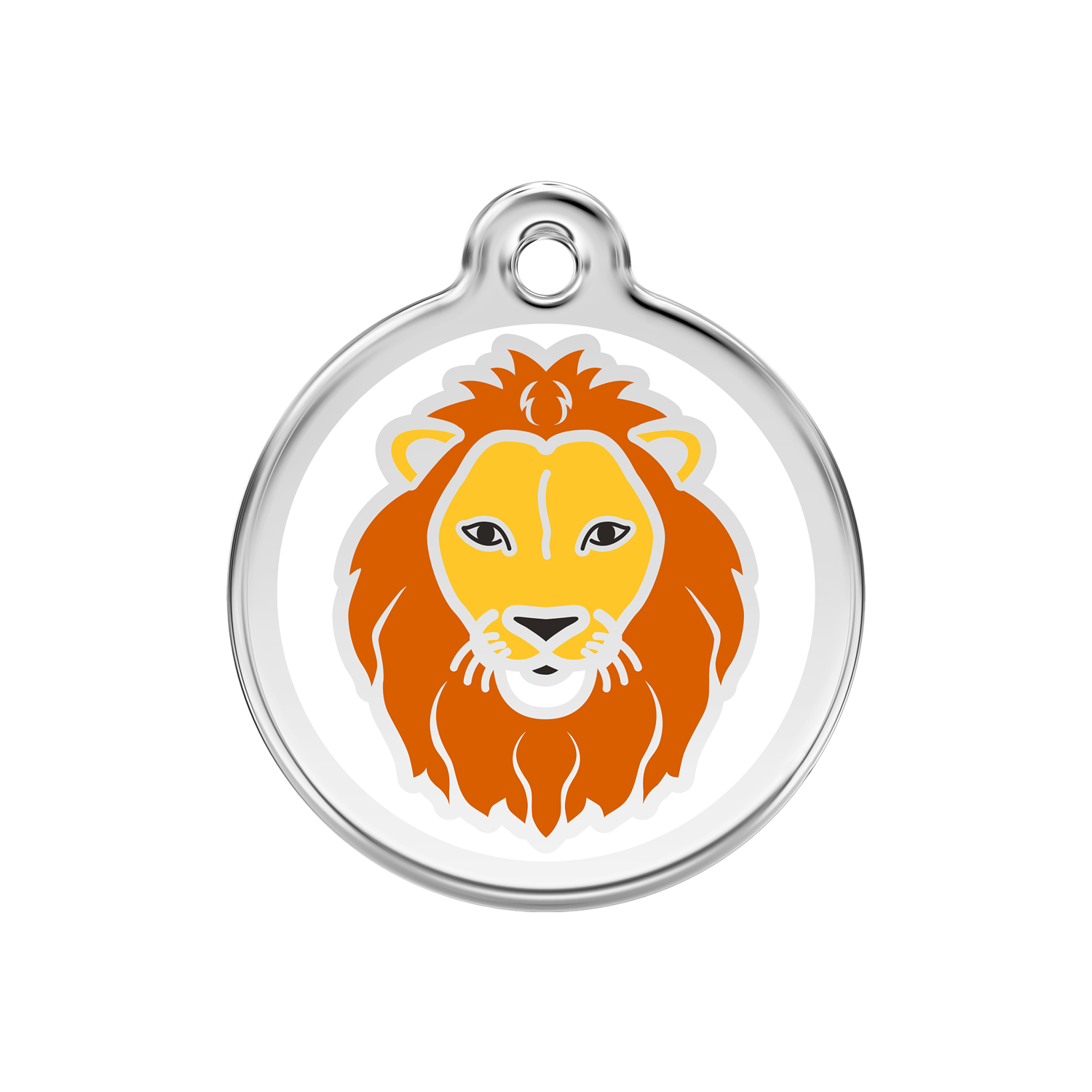 Lion Medium Enamel & Stainless Steel Tag>