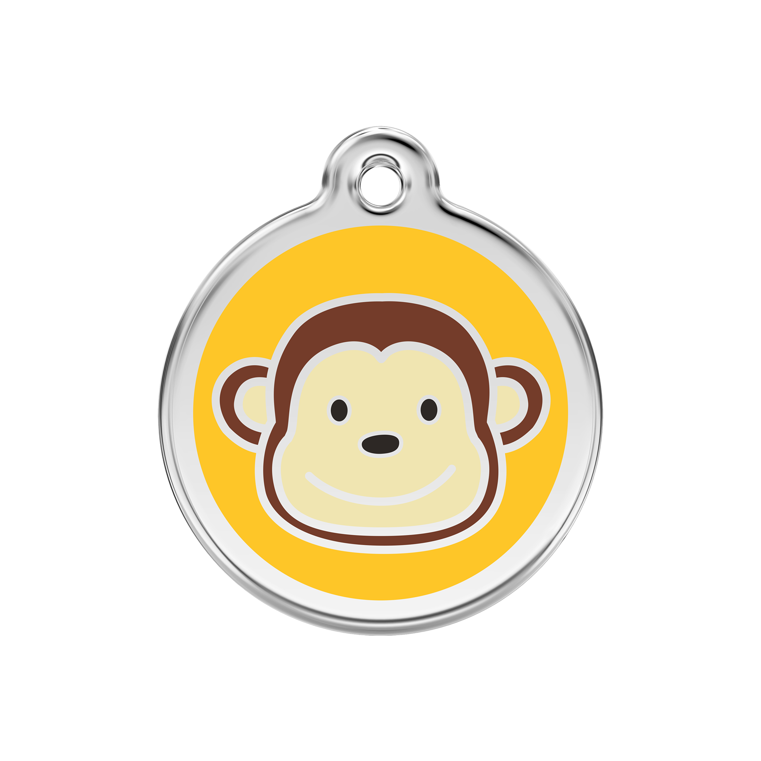 Monkey Medium Enamel & Stainless Steel Tag>