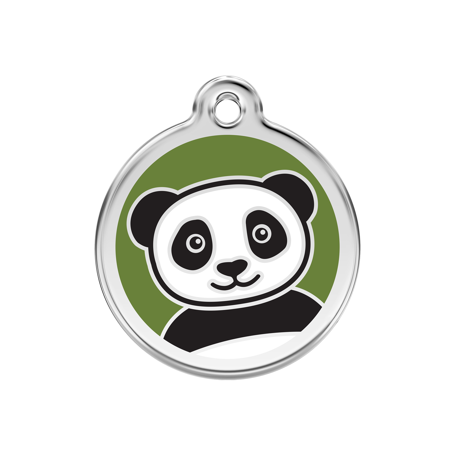 Panda Medium Enamel & Stainless Steel Tag>