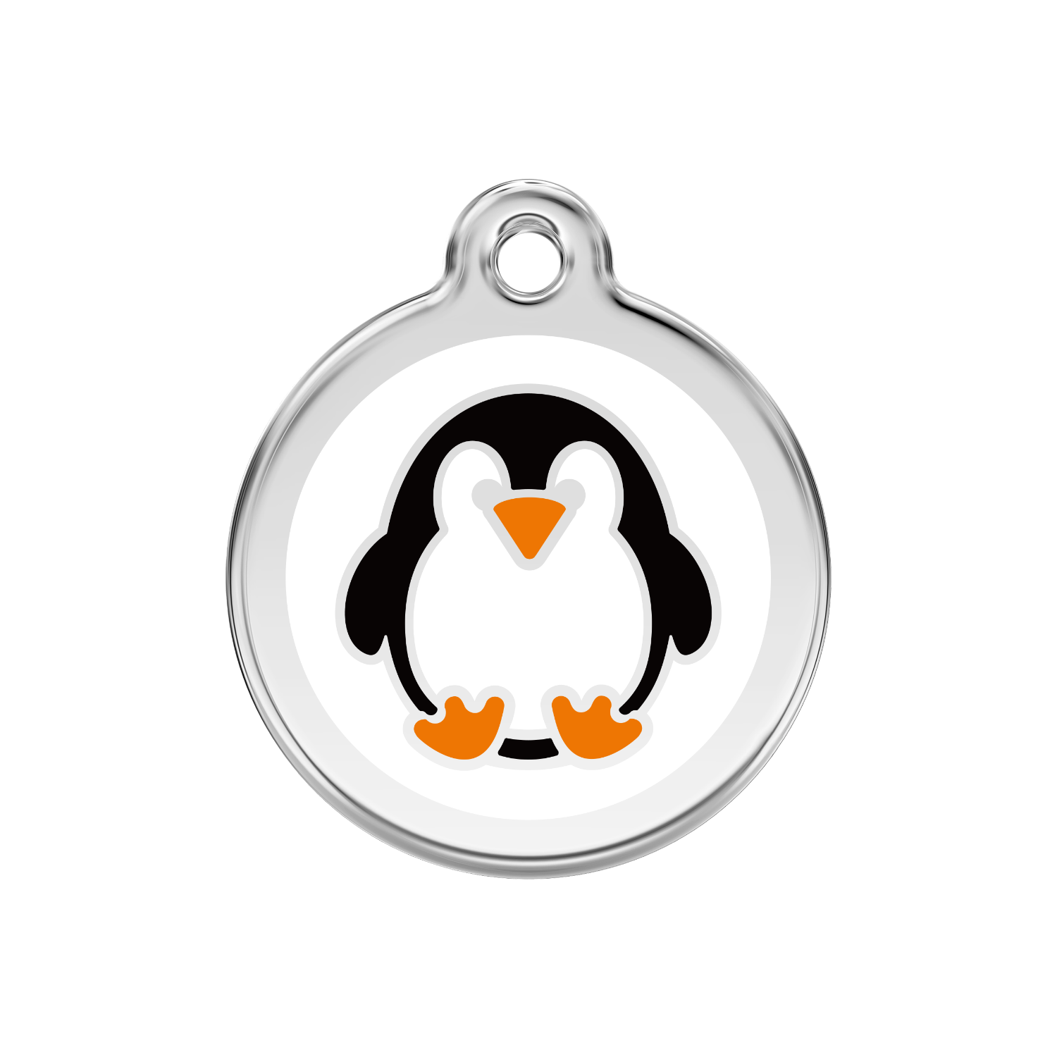 Penguin Medium Enamel & Stainless Steel Tag>