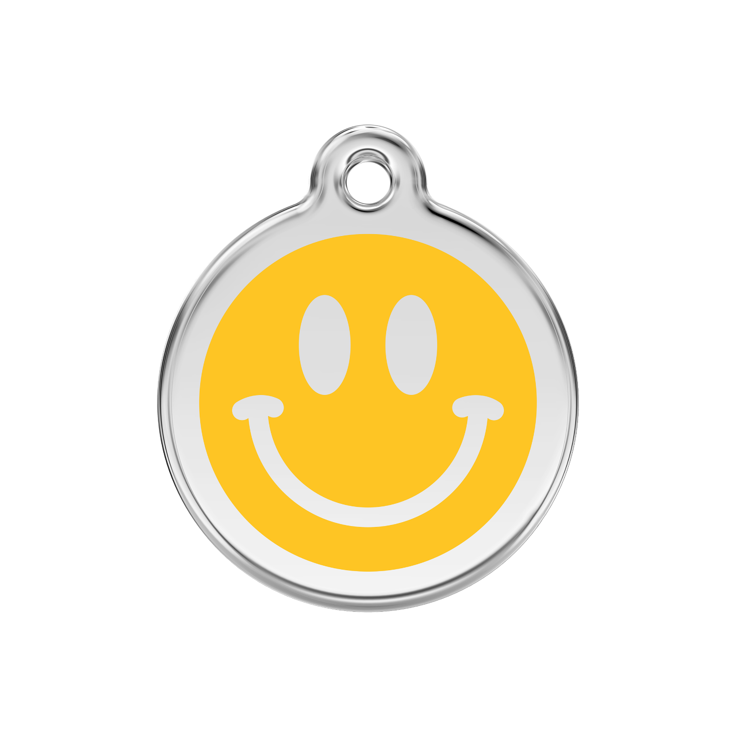 Smiley Face Medium Enamel & Stainless Steel Tag>