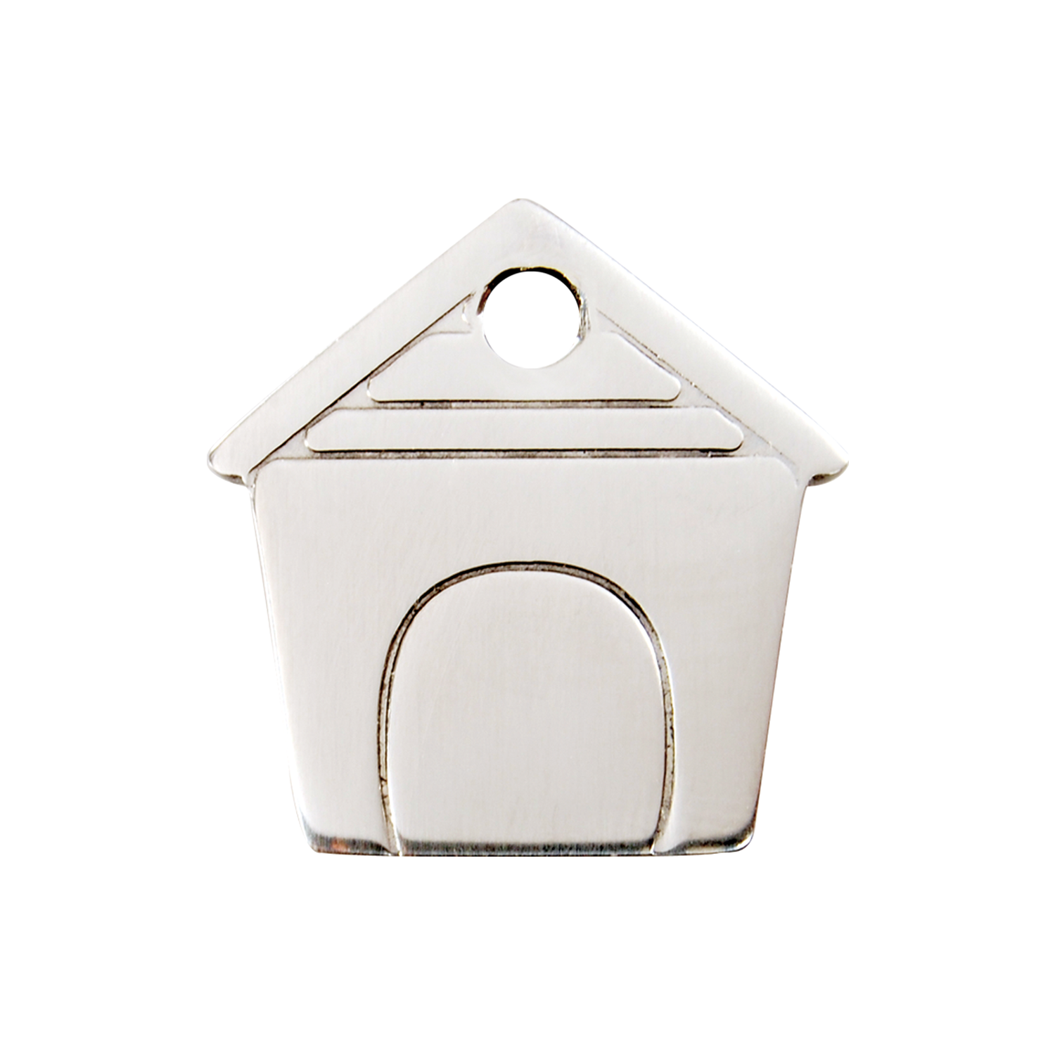 Dog House Medium Flat Stainless Steel Tag>