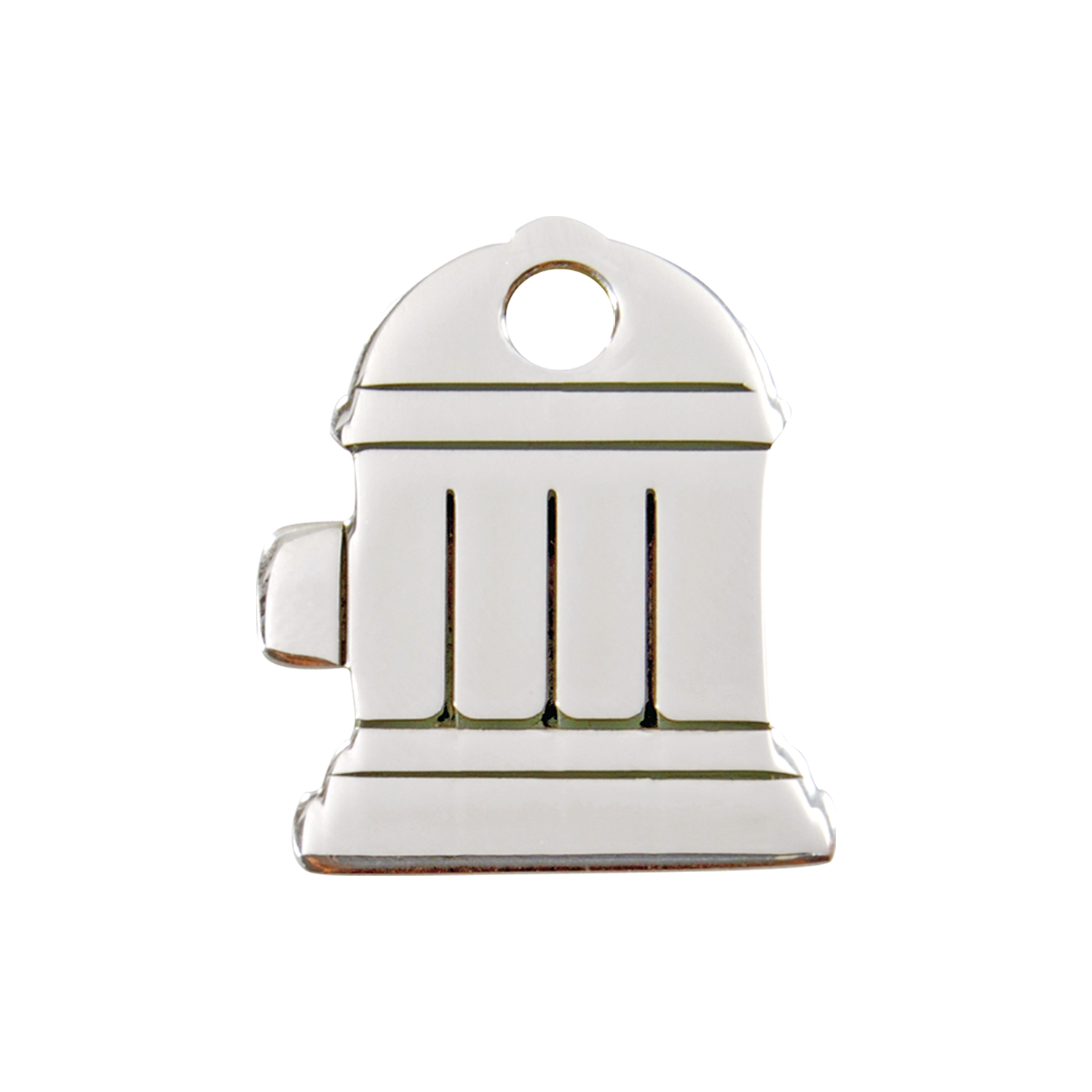 Fire Hydrant Medium Flat Stainless Steel Tag>