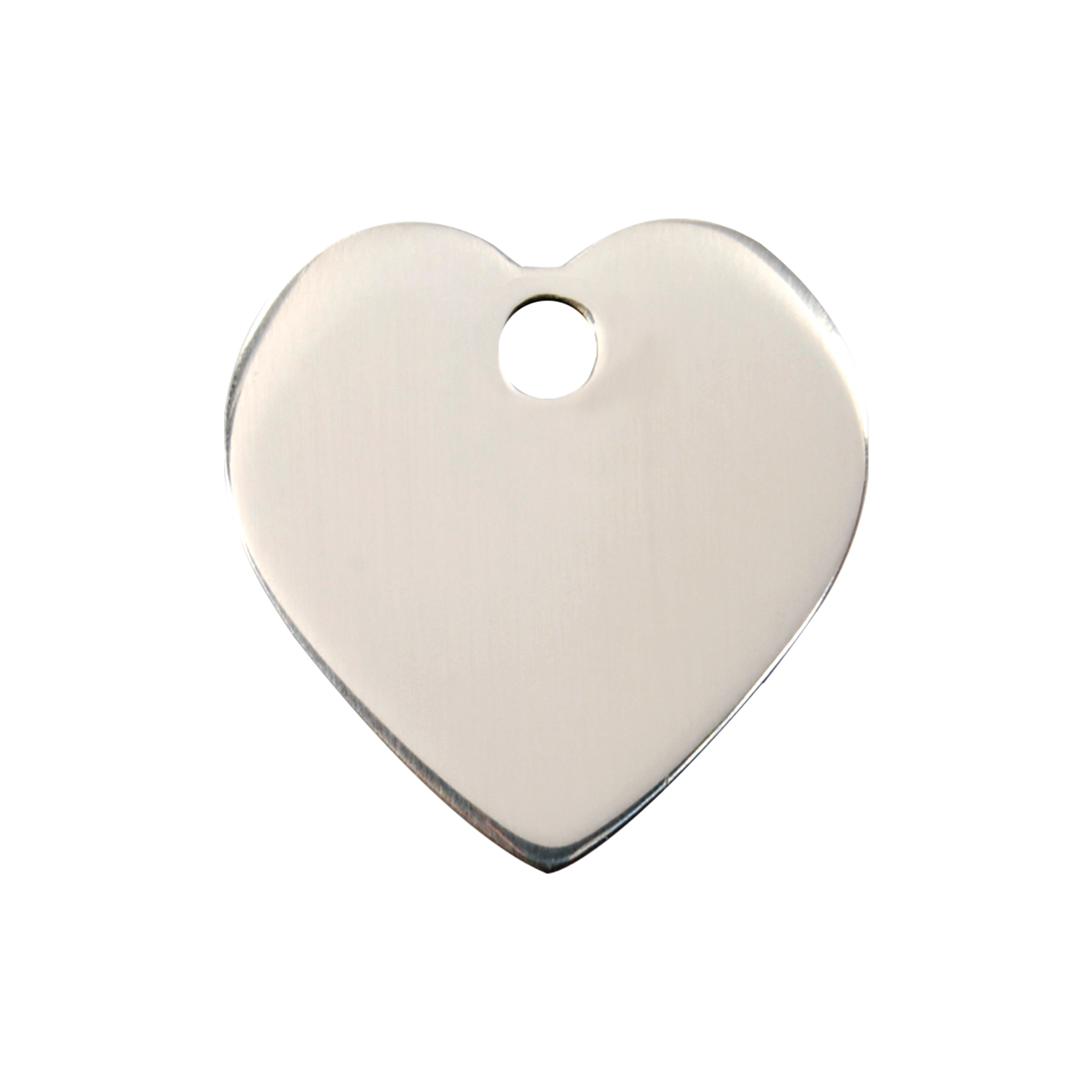 Heart Medium Flat Stainless Steel Tag>