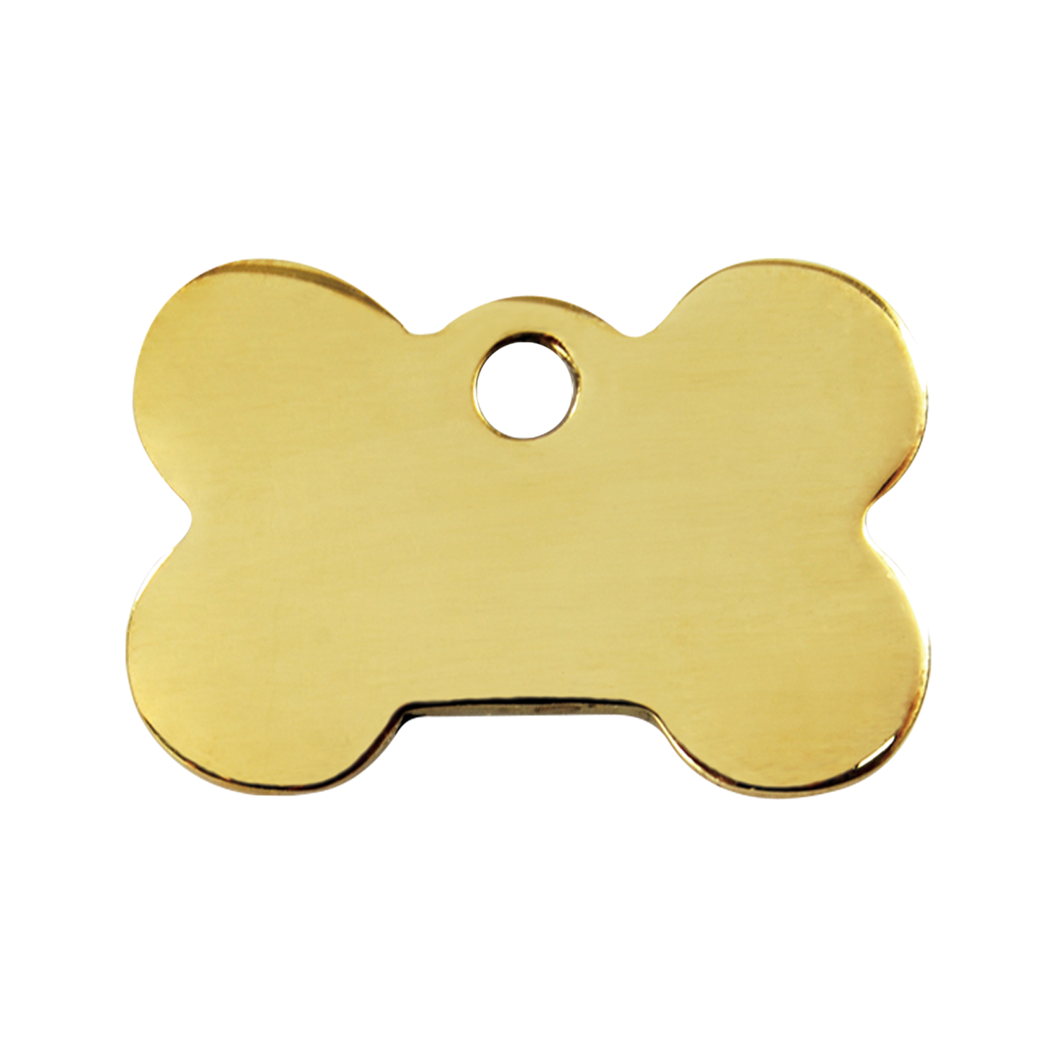 Bone Medium Flat Brass Tag>