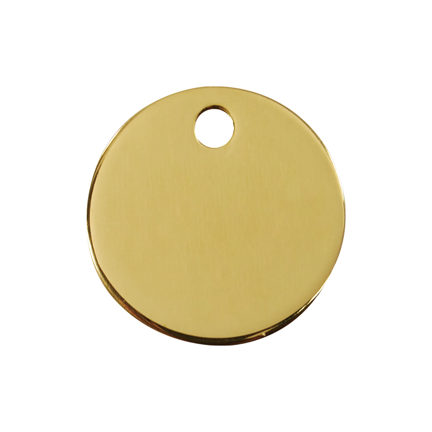 Circle Medium Flat Brass Tag>