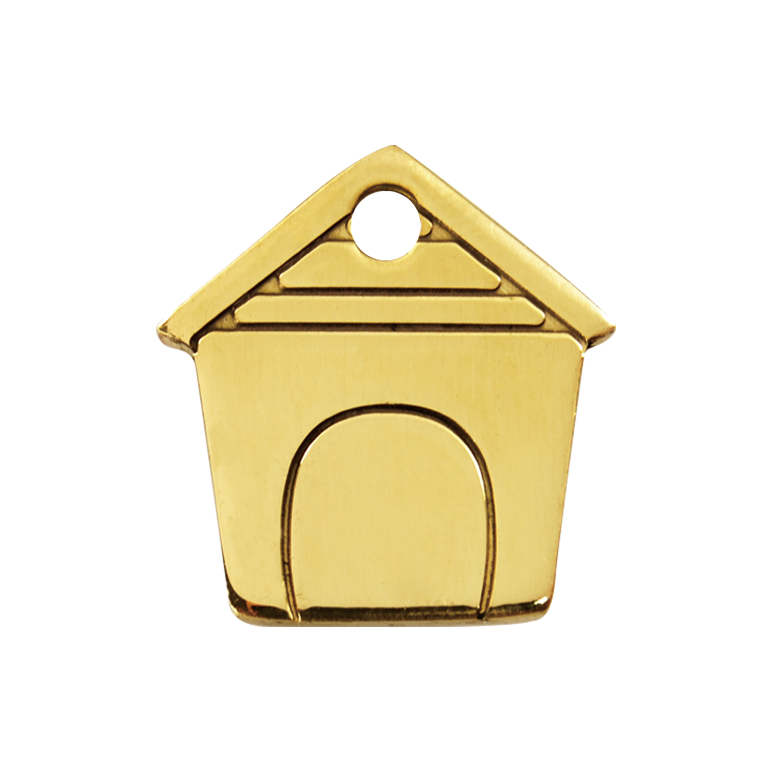 Dog House Medium Flat Brass Tag>