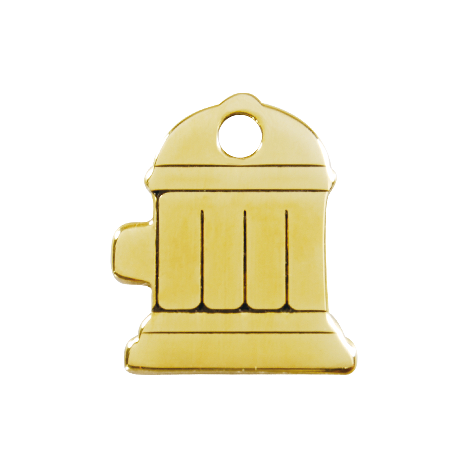 Fire Hydrant Medium Flat Brass Tag>
