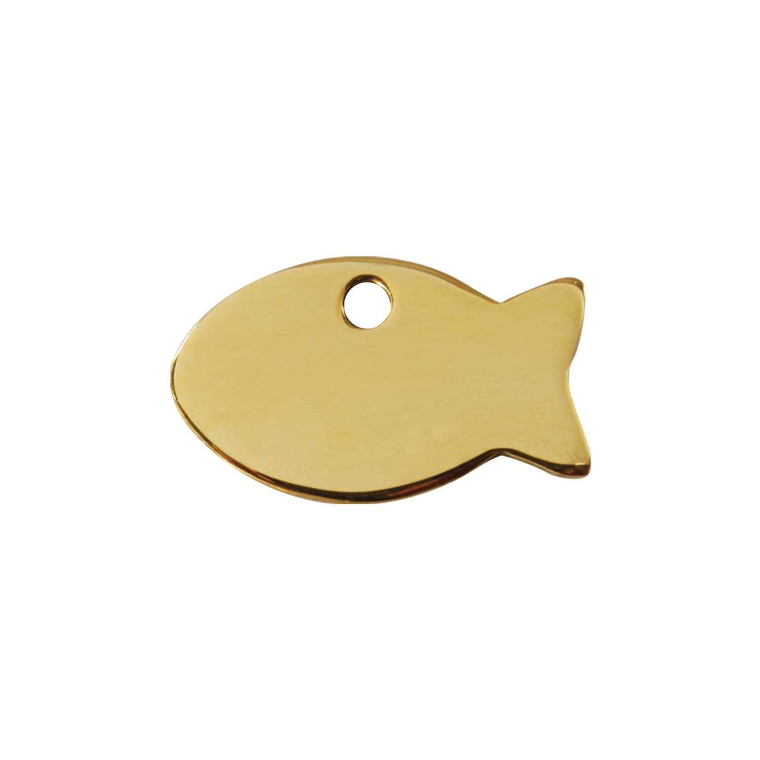 Fish Small Flat Brass Tag>