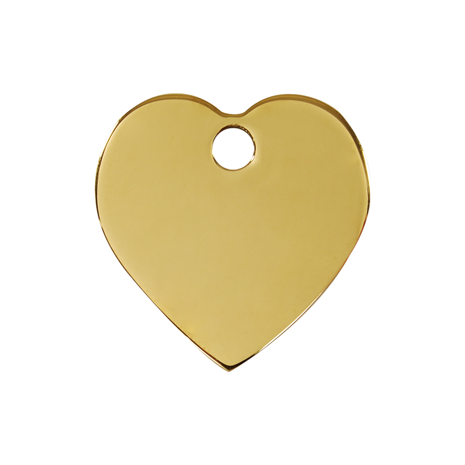 Heart Medium Flat Brass Tag>