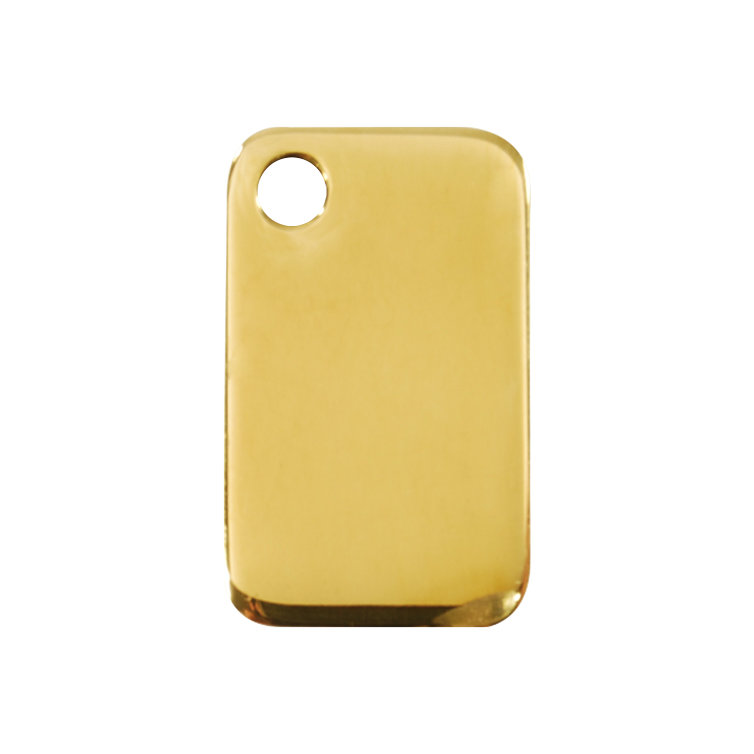Rectangular Medium Flat Brass Tag>