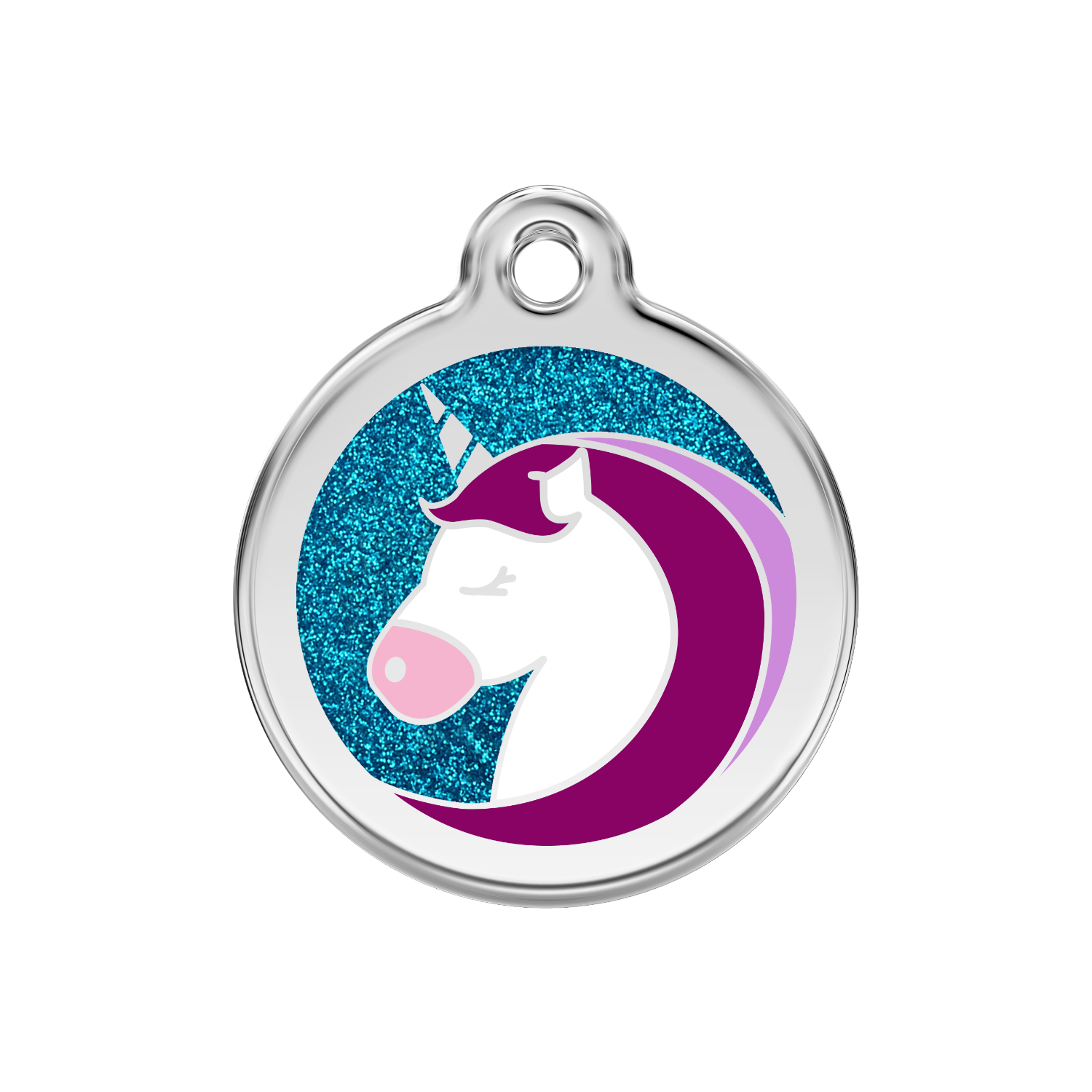 Unicorn Medium Glitter Enamel & Stainless Steel Tag>